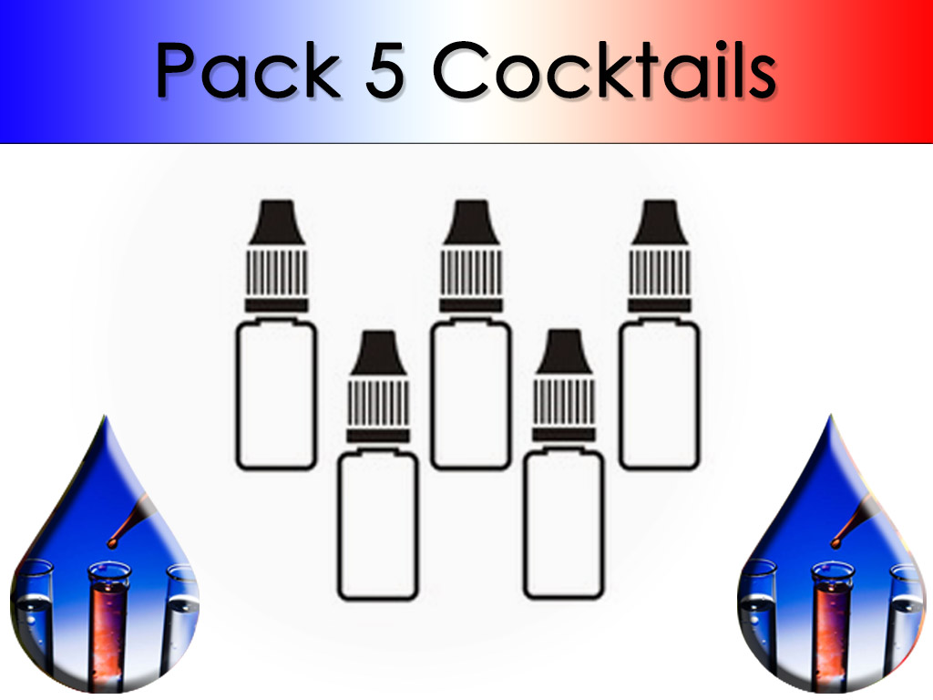 Pack 5 flacons Cocktail