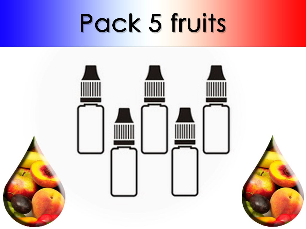 Pack 5 flacons Fruit