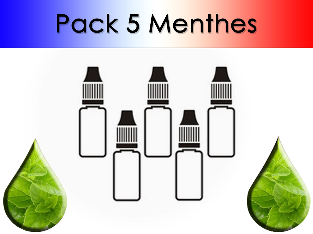 Pack 5 flacons Menthe