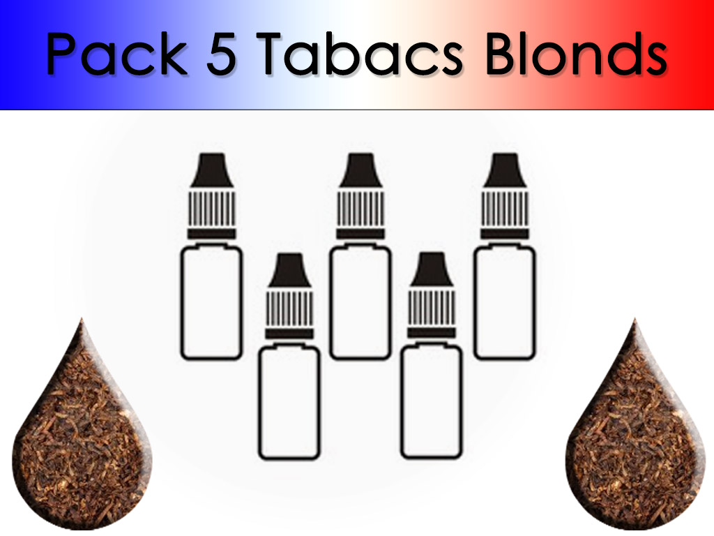 Pack 5 flacons Tabac Blond