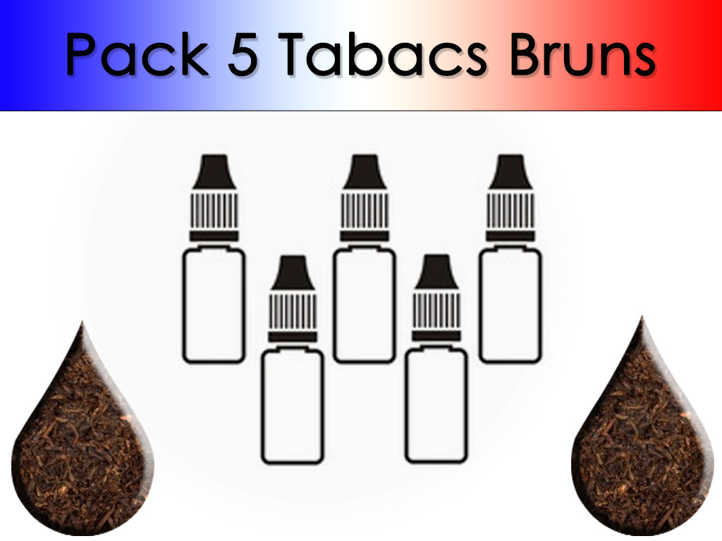 Pack 5 flacons Tabac Brun