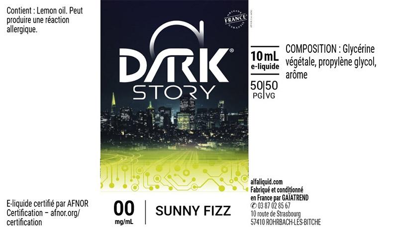 étiquette eliquide dark story