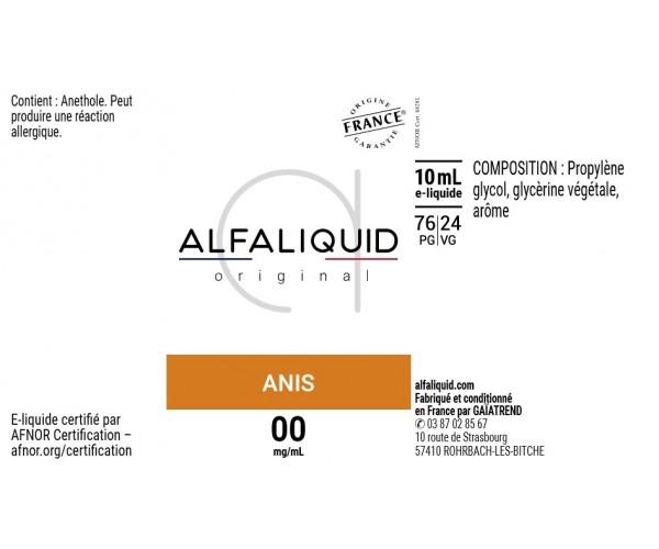 etiquette eliquide alfaliquid anis