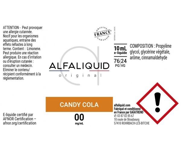 etiquette eliquide alfaliquid candy cola