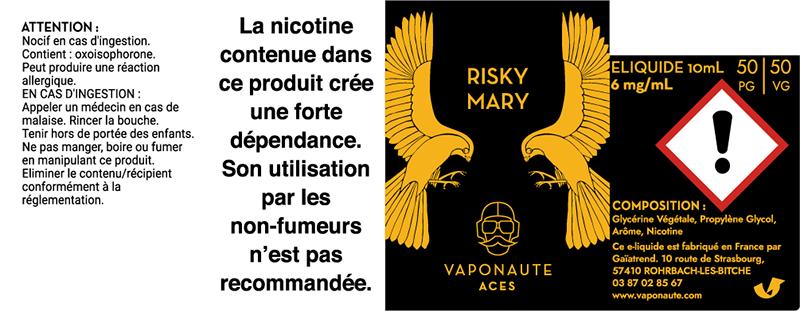 etiquette risky mary vaponaute