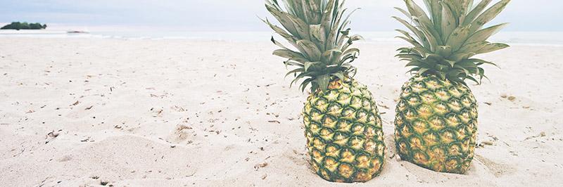 ananas plage mer