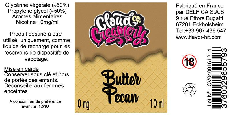 etiquette eliquide butter pecan cloud co creamery
