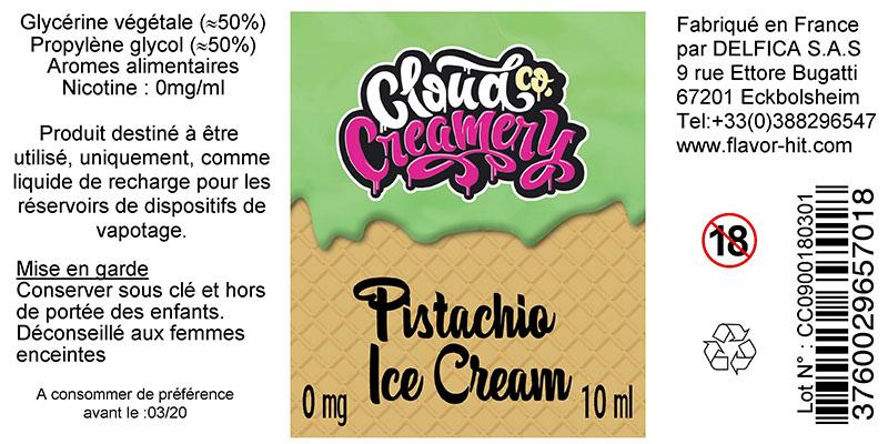 etiquette eliquide pistachio cloud co creamery