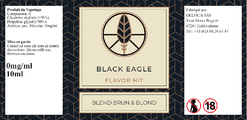 eliquide black eagle flavor hit etiquette