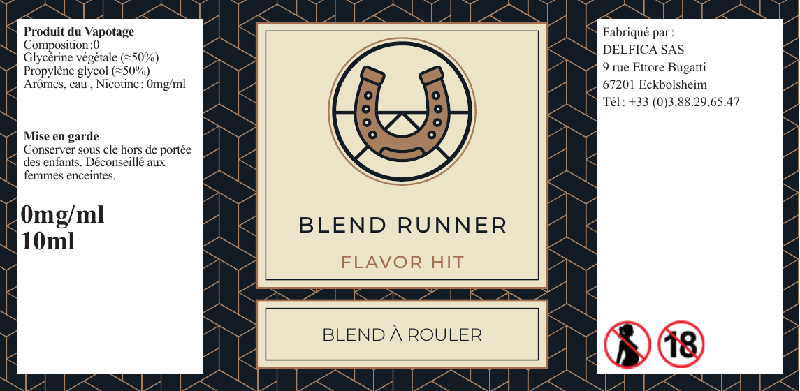 etiquette eliquide blend runner flavor hit
