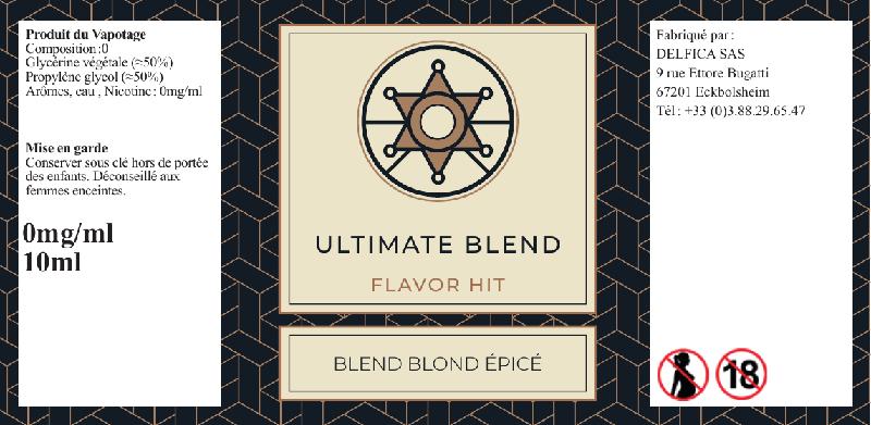 etiquette eliquide flavor hit ultimate blend
