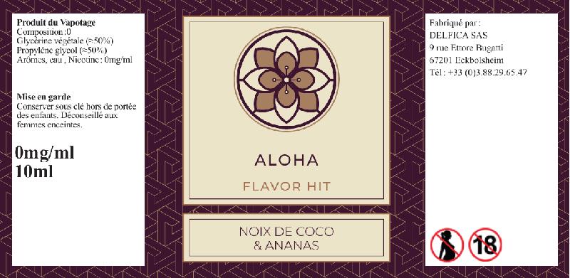 etiquette eliquide aloha flavor hit