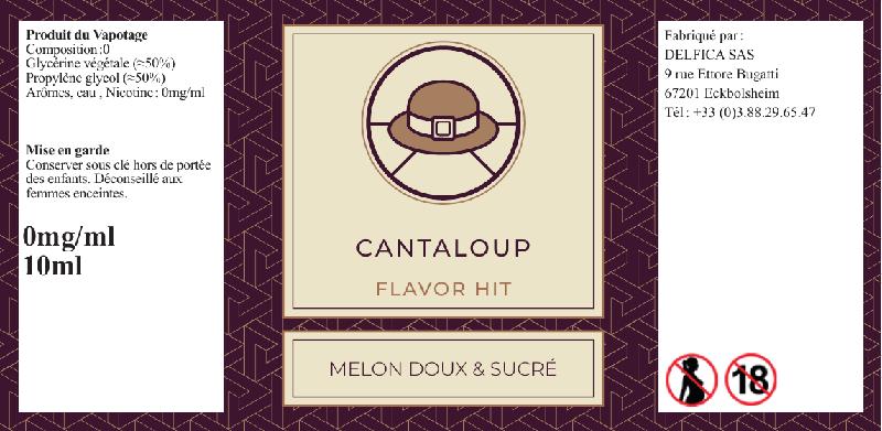 eliquide étiquette cantaloup flavor hit