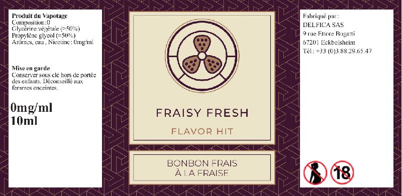 etiquette flacon eliquide flavor hit fraisy fresh