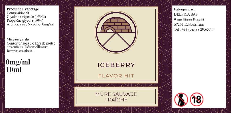 etiquette eliquide iceberry flavor hit