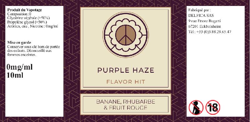 étiquette pruple haze eliquide flavor hit