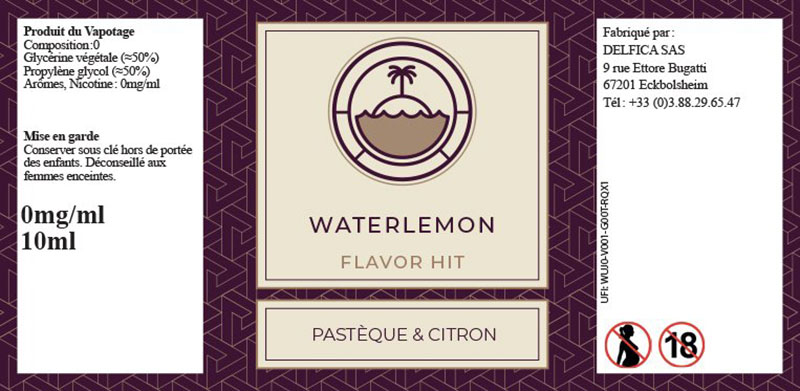 etiquette eliquide flavor hit watermelon