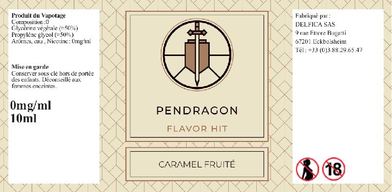 etiquette eliquide pendragon flavor hit