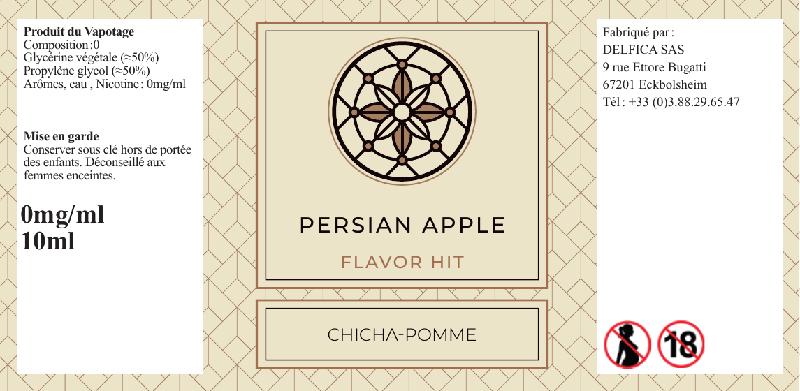 etiquette eliquide persian apple