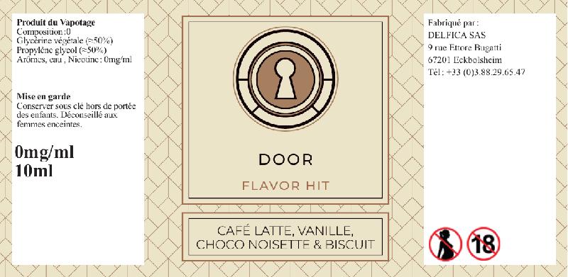 etiquette eliquide door flavor hit