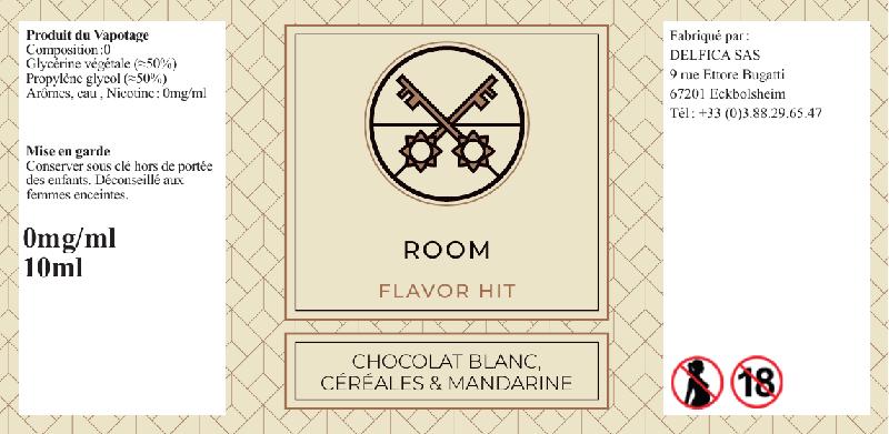 etiquette eliquide room flavor hit