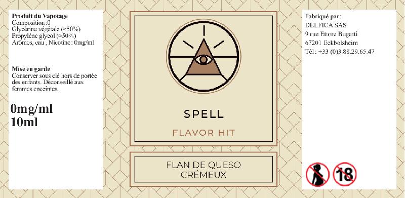 etiquette eliquide spell flavor hit