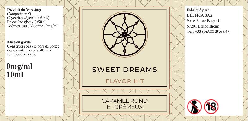etiquette eliquide sweet dreams flavor hit