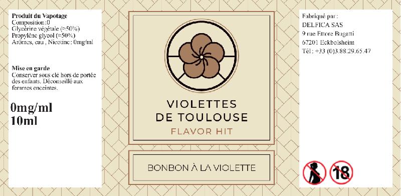 etiquette eliquide violettes de toulouse flavor hit
