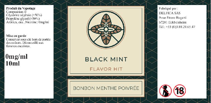 etiquette eliquide black mint flavor hit