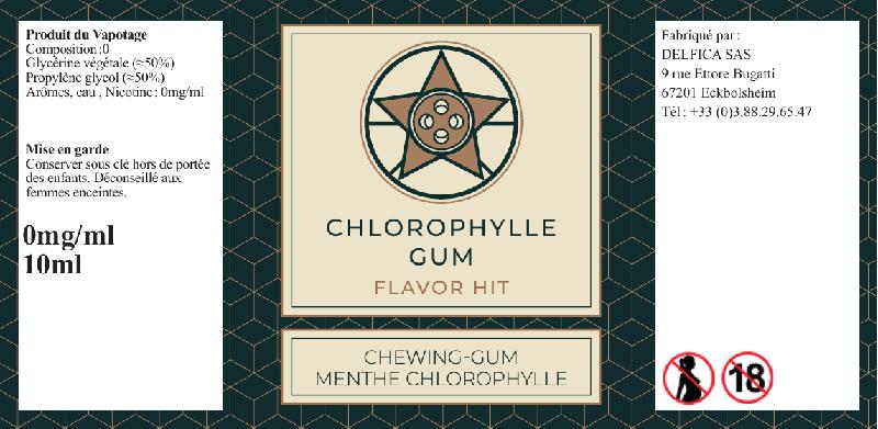 etiquette eliquide chlorophylle gum flavor hit