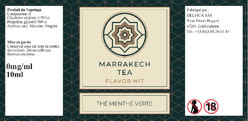 etiquette eliquide marrakech tea flavor hit
