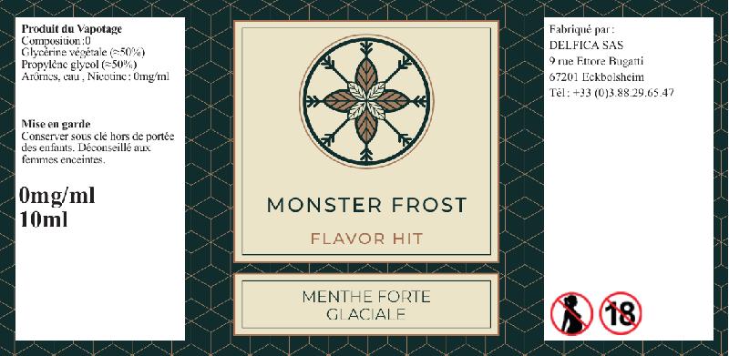 etiquette eliquide monster frost flavor hit